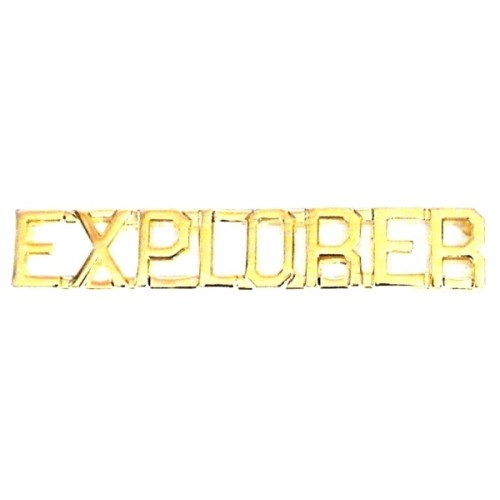 EXPLORER DIE STRUCK LETTERS, 2 POSTS & CLUTCH BACKS, PAIRS