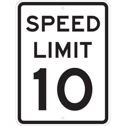 Speed Limit 10 MPH Sign
